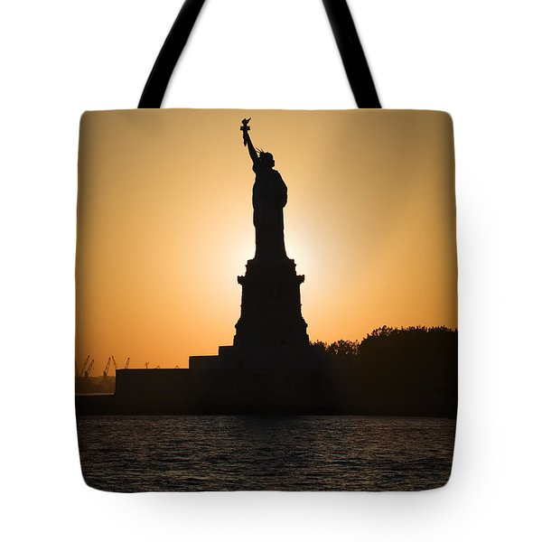 Liberty Sunset Tote Bag by Dave Bowman