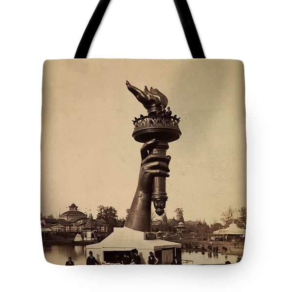 Liberty Torch At Philadelphia For Us Centennial 1876 Tote Bag by Bill Cannon