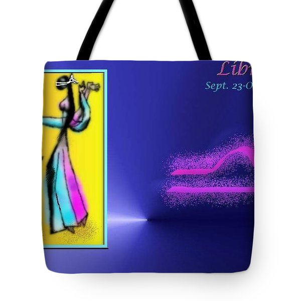Tote Bag featuring the digital art Libra by The Art of Alice Terrill