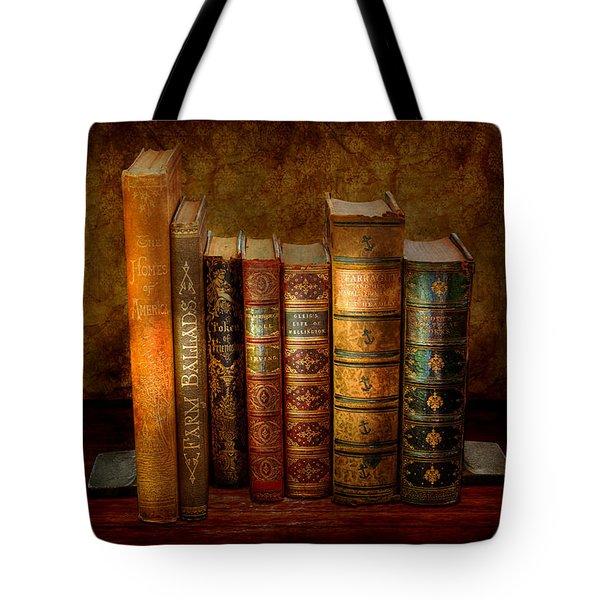 Librarian - Writer - Antiquarian Books Tote Bag by Mike Savad