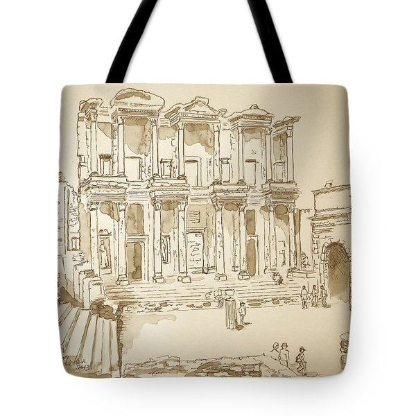 Library At Ephesus II Tote Bag