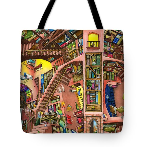 Library Tote Bag by Colin Thompson