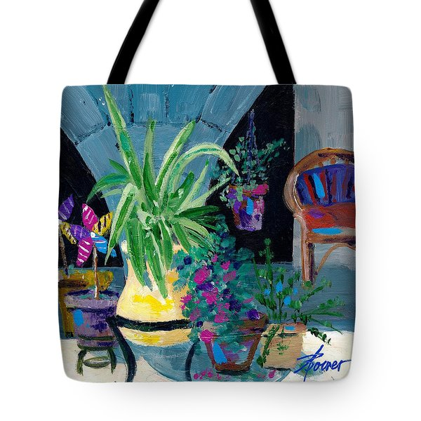 Library Courtyard-rhodes Old Town Tote Bag