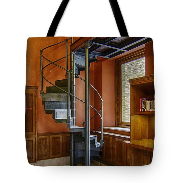 Tote Bag featuring the photograph Boston Public Library Loft Staircase by Betty Denise