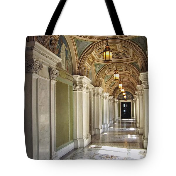 Library Of Congress Hallway Washington Dc Tote Bag