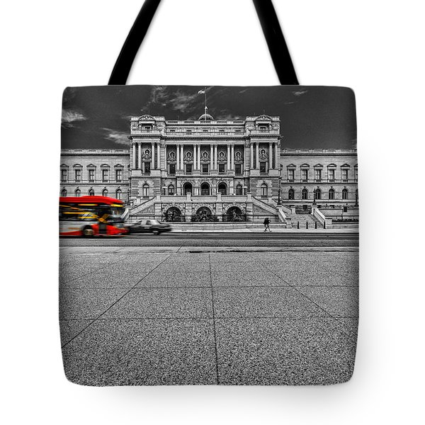 Tote Bag featuring the photograph Library Of Congress by Peter Lakomy