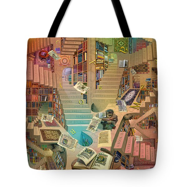 Library Of The Mind Art Tote Bag by Garry Walton