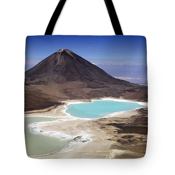 Licancabur Volcano And Laguna Verde Tote Bag by James Brunker
