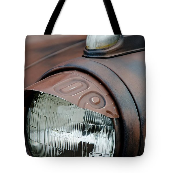 License Tag Eyebrow Headlight Cover  Tote Bag by Wilma  Birdwell