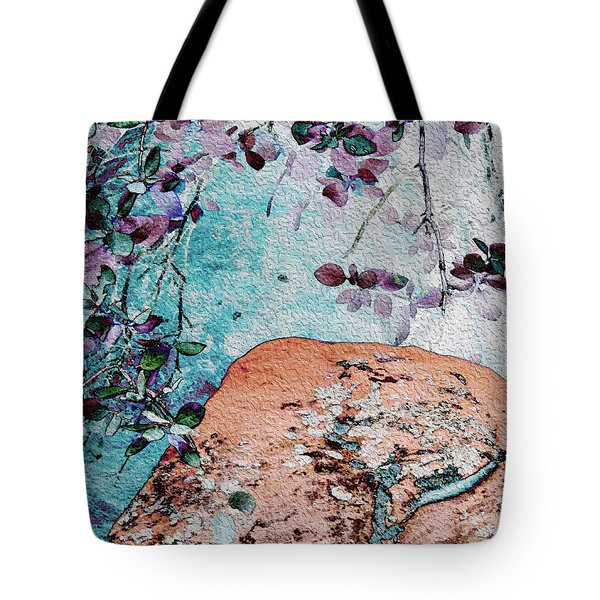 Lichen And Leaves Tote Bag