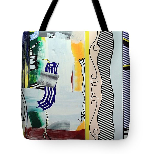 Lichtenstein's Painting With Statue Of Liberty Tote Bag by Cora Wandel