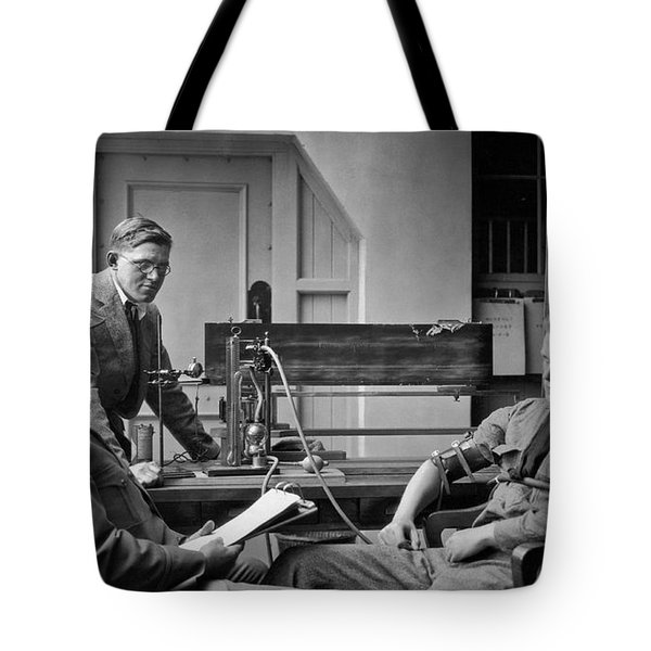 Lie Detector Test Tote Bag by Underwood Archives