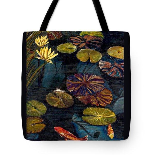 Life Among The Lily Pads Tote Bag