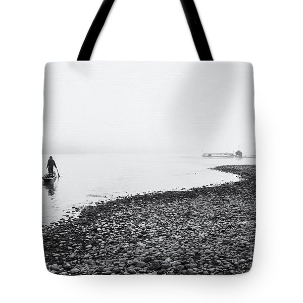 Life At Mekong River Tote Bag by Setsiri Silapasuwanchai