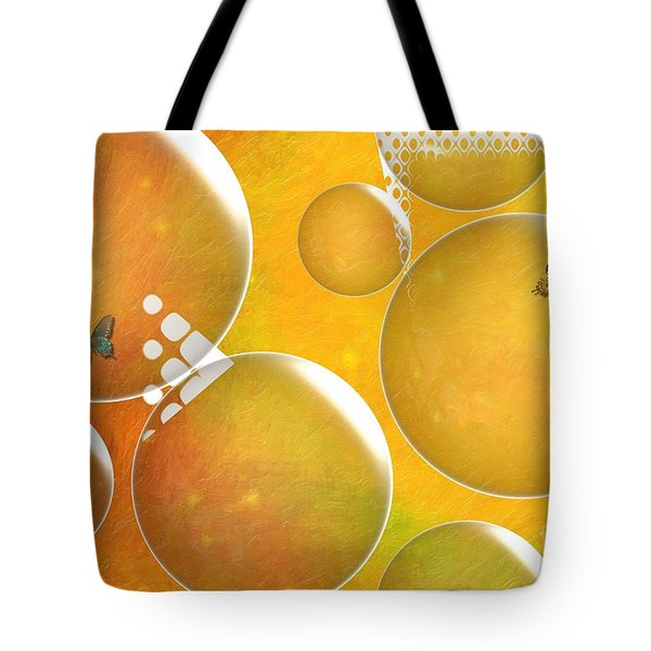 Life In A Bubble   Tote Bag by Liane Wright