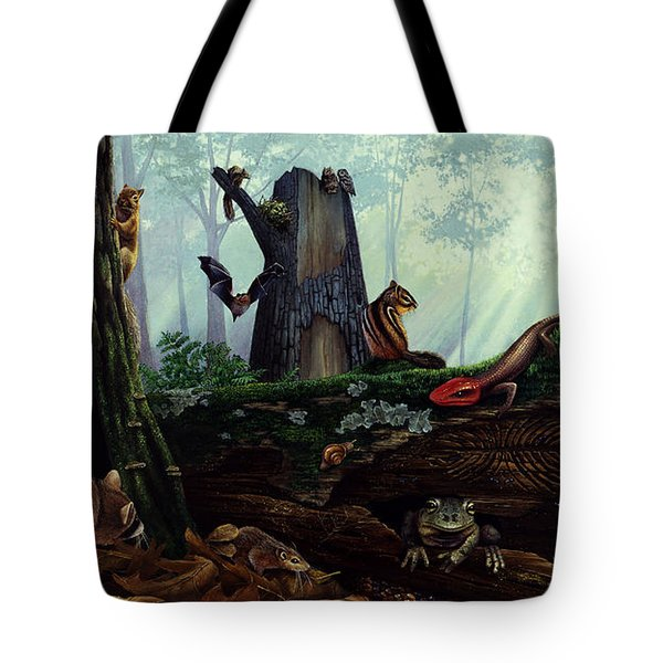 Life In A Dead Tree Tote Bag