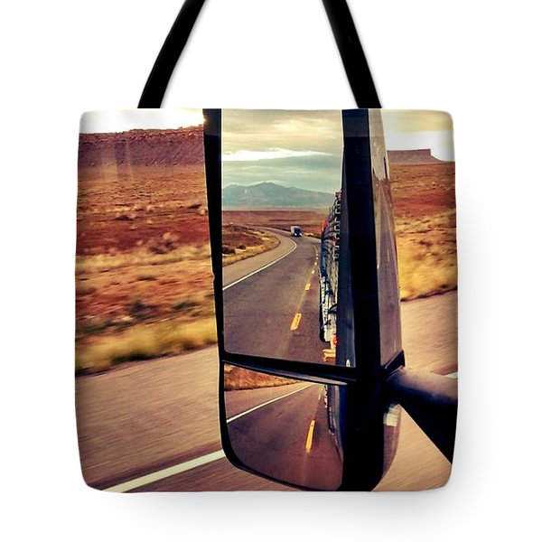 Life In My Rearview Mirror Tote Bag