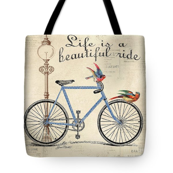 Life Is A Beautiful Ride Tote Bag by Jean Plout
