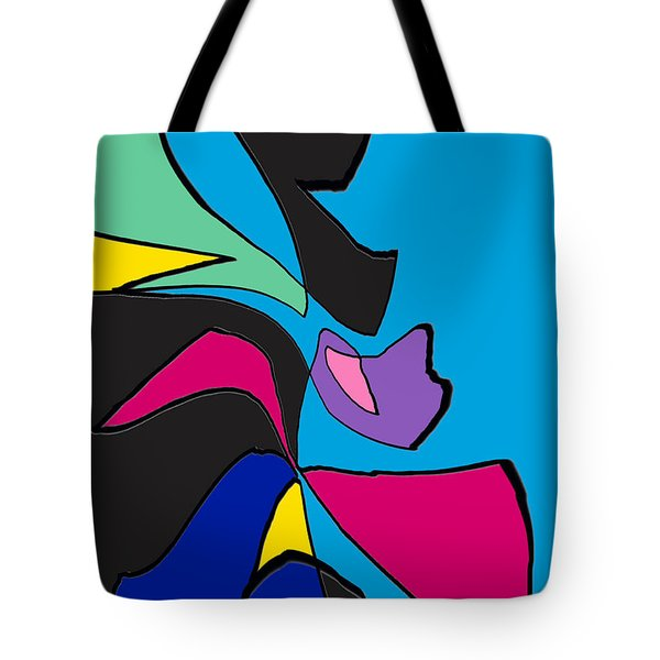 Original Abstract Art Painting Life Is Good By Rjfxx.  Tote Bag