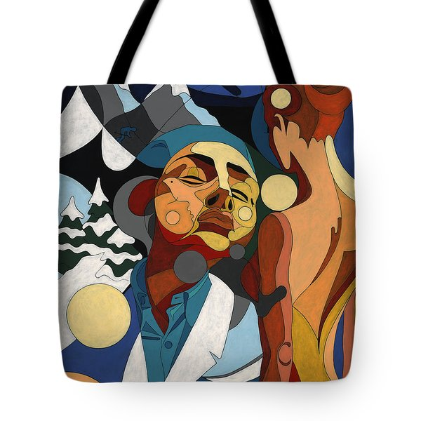 Life Of Roy Painting With Hidden Pictures Tote Bag