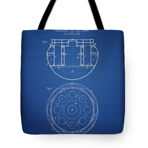 Life Saving Buoy Boat Patent From 1888 - Blueprint Tote Bag