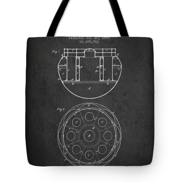 Life Saving Buoy Boat Patent From 1888 - Charcoal Tote Bag