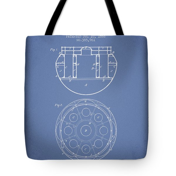 Life Saving Buoy Boat Patent From 1888 - Light Blue Tote Bag