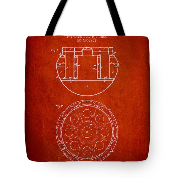 Life Saving Buoy Boat Patent From 1888 - Red Tote Bag