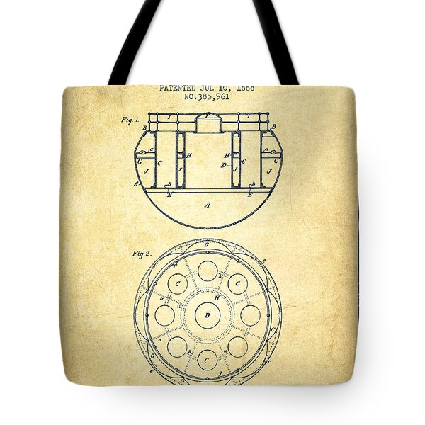 Life Saving Buoy Boat Patent From 1888 - Vintage Tote Bag