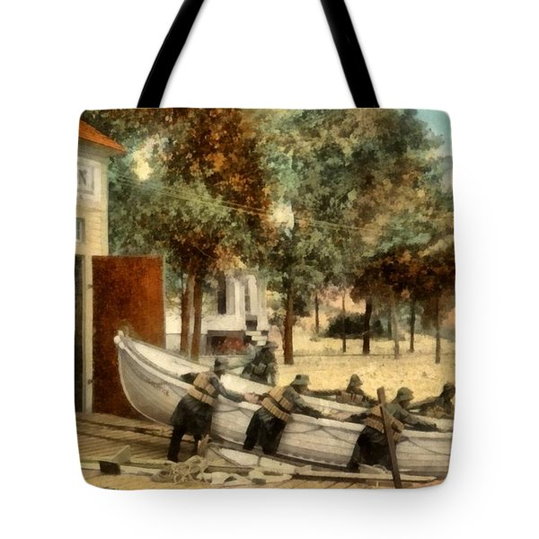 Life Saving Station Tote Bag