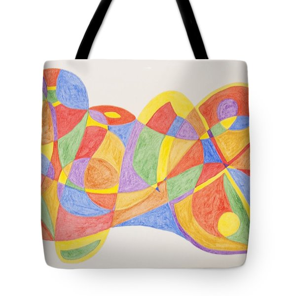 Tote Bag featuring the painting Graffiti Life  by Stormm Bradshaw