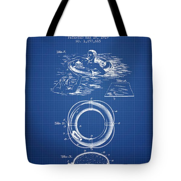 Lifebuoy Patent From 1919 - Blueprint Tote Bag