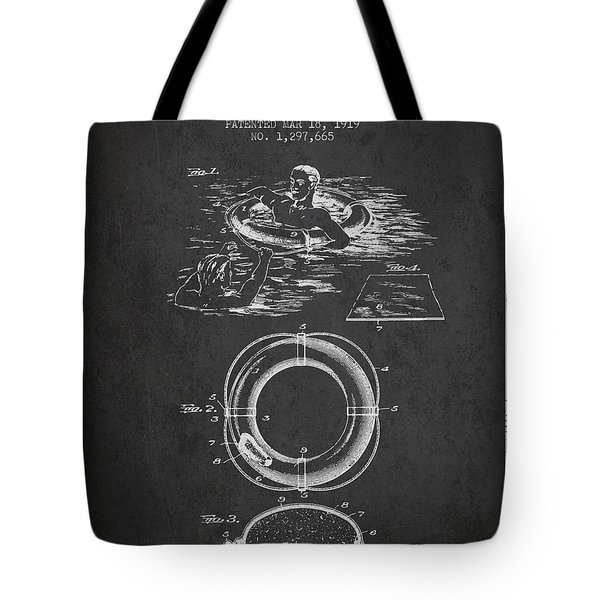 Lifebuoy Patent From 1919 - Charcoal Tote Bag