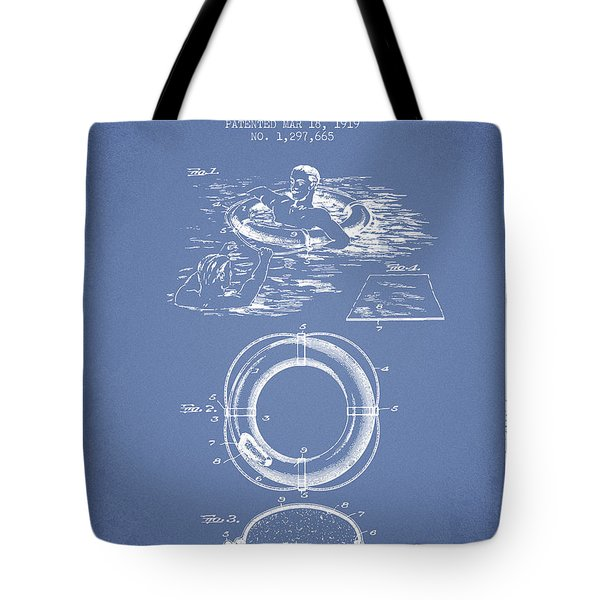 Lifebuoy Patent From 1919 - Light Blue Tote Bag