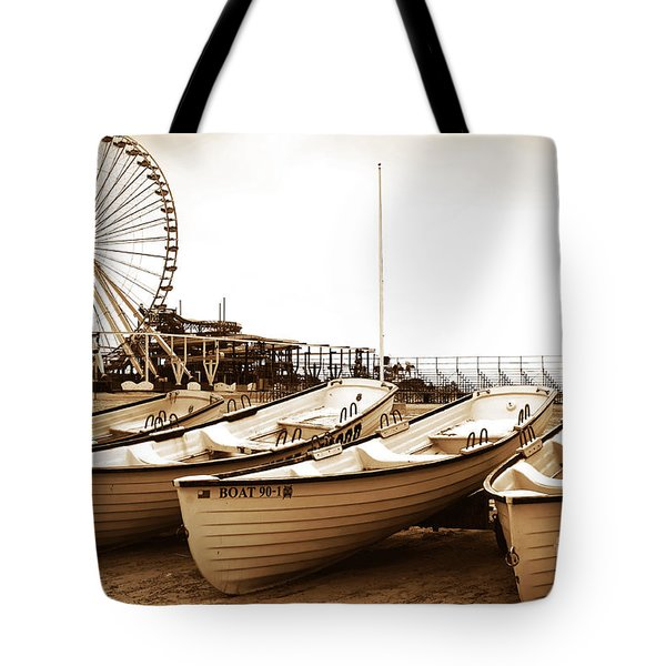 Lifeguard Boats Tote Bag by John Rizzuto