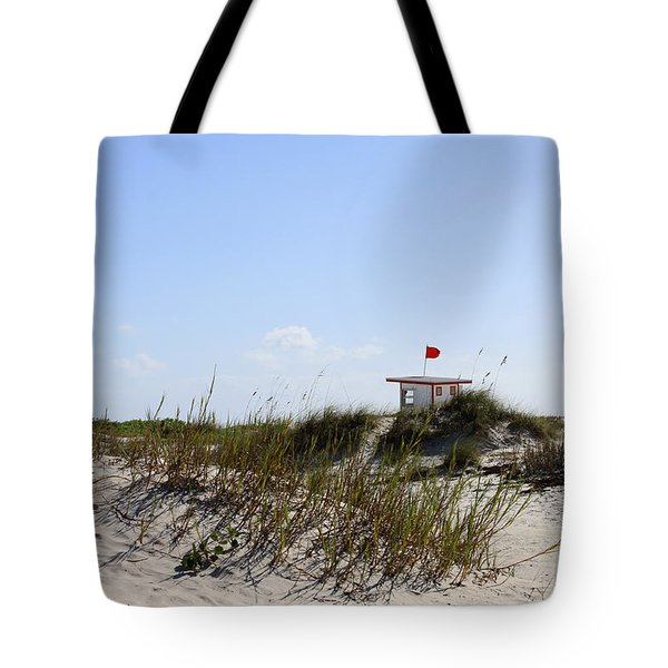 Lifeguard Station Tote Bag by Chris Thomas