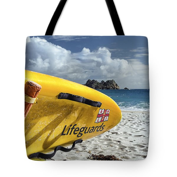 Lifeguard Surfboard Tote Bag by Joseph S Giacalone