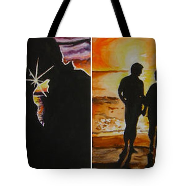 Tote Bag featuring the painting Life's A Beach by Tamir Barkan