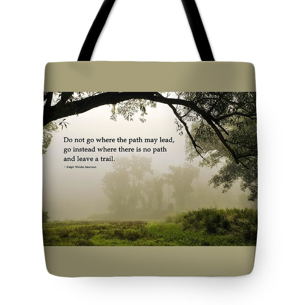Life's Path Inspirational Art Tote Bag