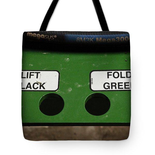 Lift Black Fold Green Tote Bag by Christi Kraft