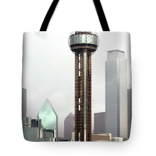 Lifting Fog On Dallas Texas Tote Bag by Robert Frederick
