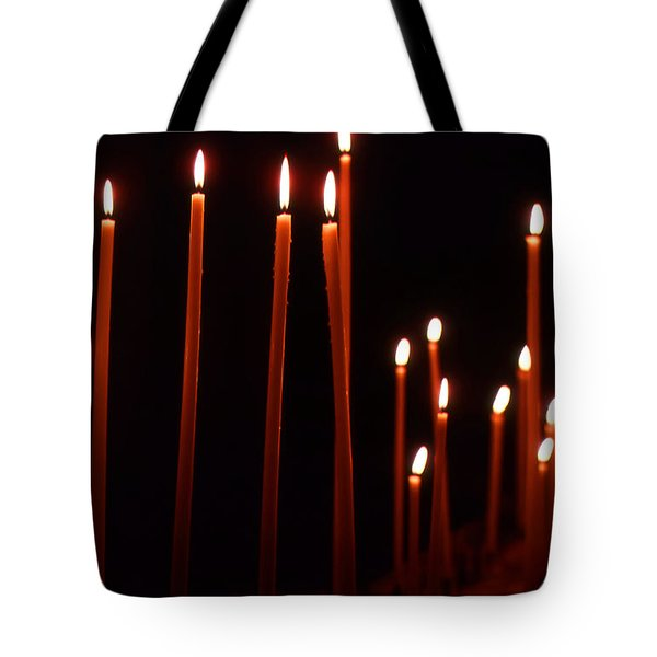 Light A Candle Say A Prayer Tote Bag