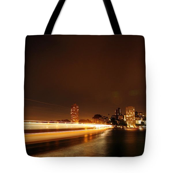 Light Across The Bay Tote Bag by Justin Woodhouse