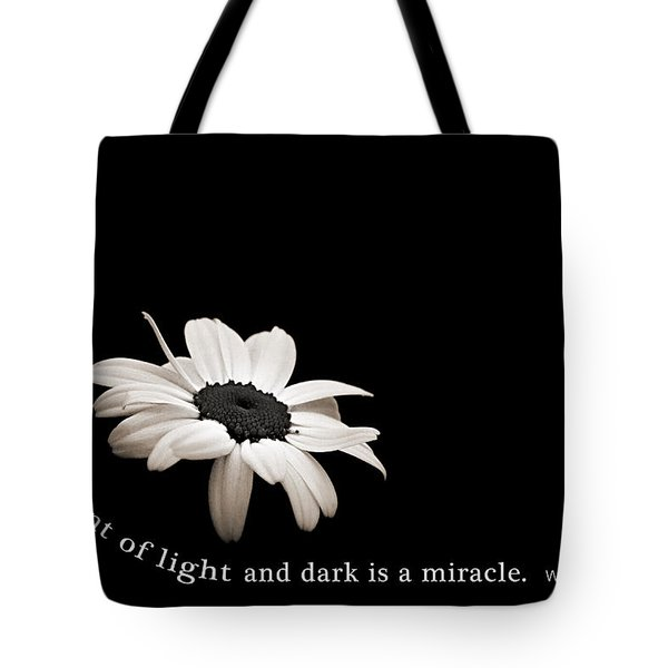 Light And Dark Inspirational Tote Bag by Bill Pevlor