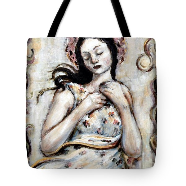 Light And Flower Angel Tote Bag by Carrie Joy Byrnes
