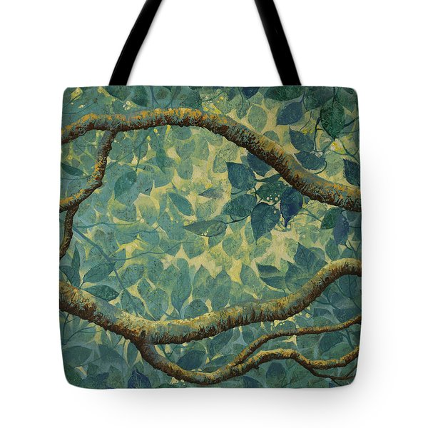 Light And Leaves Tote Bag