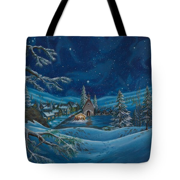 Light And The Darkest Night Tote Bag