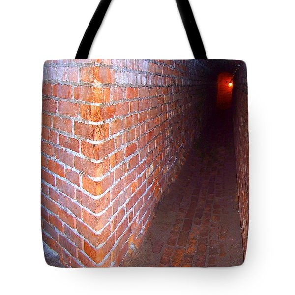 Light At The End Of The Tunnel Fort Pickens Florida Tote Bag by Jennifer Muller