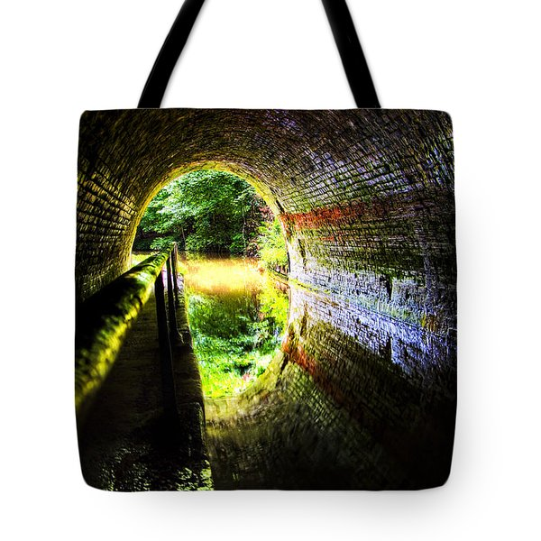 Tote Bag featuring the photograph Light At The End Of The Tunnel by Meirion Matthias