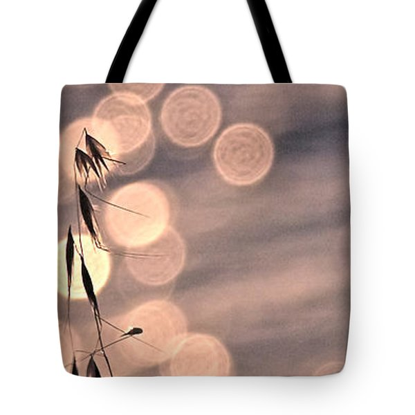 Light Bubbles And Grass 3 Tote Bag by Jocelyn Kahawai
